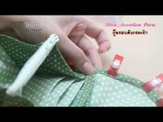 Tuto Minie Accordion Purse PINN SHOP - YouTube