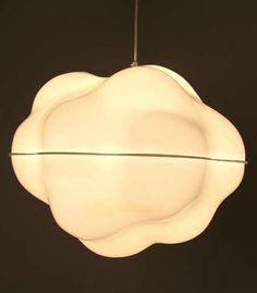 Ueli Berger; Plastic 'Cloud' Ceiling Lamp, c1970.