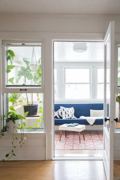 That sun room! ||||| House Tour: Chill Scandinavian Meets Mid-Century Style | Apartment Therapy