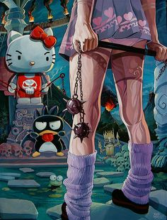 """Kitty Fight!"" by Dave MacDowell Studios, via Flickr"