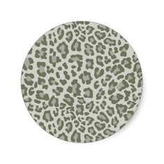 Rainbow Leopard Print Collection - Army Green Sticker