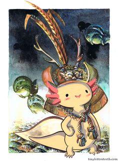 Samurai Axolotl: this describes the absolute holyness of axolotls