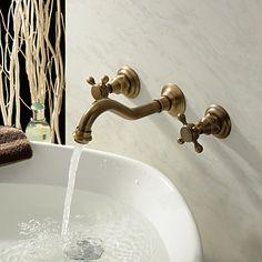 Antike inspiriert Waschbecken Wasserhahn (Messing poliert Finish)