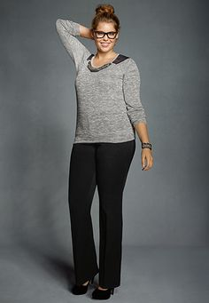 Smart Black Smooth Front Pants - maurices.com