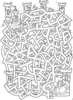 un labyrinthe Welkom bij Dover Publications Colouring Pages, Coloring Books, Mazes For Kids, Hidden Pictures, Dover Publications, Activity Sheets, Kids Education, Pre School, Preschool Activities