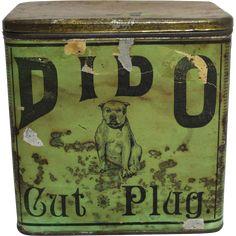 "Rare Late 1800's ""DIDO"" Cut Plug Tobacco Tin"