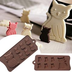 Cake Decorating Tool Cat Kitten 7 Cavity Silicone Mold for Fondant Gum Paste Chocolate Crafts Cake mold. Category: Home & Garden. Chocolate Crafts, Chocolate Molds, Homemade Chocolate, Baking Chocolate, Cake Chocolate, Fondant Icing, Cake Decorating Tools, Melting Crayons, How To Make Cookies