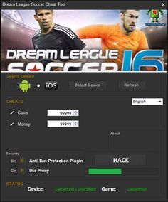 The fastest, easiest way to get Dream League Soccer 2017 Hack – Unlimited Coins is from presented on this website. Updated version of Dream League Soccer 2017 Hack – Unlimited Coins running up to date.