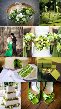 Fall wedding ideas. Do you like this green theme color?