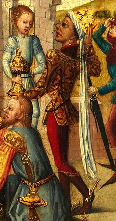 Moorish/African King (Middle Rhine) Adoration of the Magi Germany (c. Oil on Panel, 19 x cm. European History, Art History, European People, Renaissance Art, Renaissance Fashion, 16th Century Clothing, Black And White People, Black Royalty, African Royalty