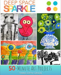 50-Minute Art lessons for Grades 3-5 Great for subs and anyone needing a quick--yet beautiful--art lesson