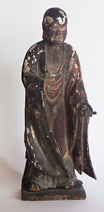Edo-Period-Japanese-Wooden-Statue-Buddhist-Monk-Priest-Nichiren-Daishonin ebay buy it now $409 or make an offer .. $10.15 for shipping