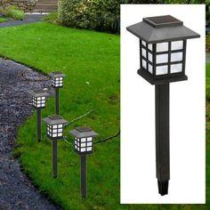 4er-Set Solarlampe mit LED