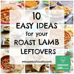 Need a few ideas for how to make the most of your leftover roast lamb? Want something a bit more inspiring than lamb sandwiches or cold meat and vegetables? Check out these 10 Easy Ideas for your Roast Lamb Leftovers… Leftover Lamb Curry, Leftover Lamb Recipes, Leftover Roast Lamb, Leftovers Recipes, Leftover Lamb Chops Recipe, Lamb Roast Recipe, Roast Lamb Leg, Roast Recipes, Cooking Recipes