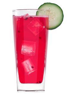Nighlock's Nemesis- tequila, lemon juice, agave nectar, cucumber wheels, blackberries, ginger ale