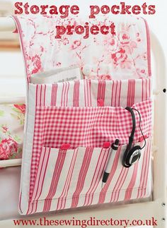 Storage pockets sewing project - free PDF pattern download