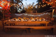 Outdoor dinner party. @TheLittleKitchen