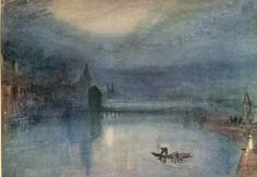 turner watercolors | — Evening by Joseph Mallord William Turner (1775-1851). Watercolor ...
