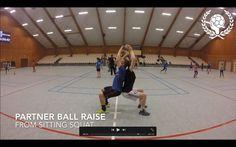 Handball warmup - Partner physical exercises (without ball)