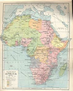Africa, circa 1922; illustration via project gutenberg (www.gutenberg.org)