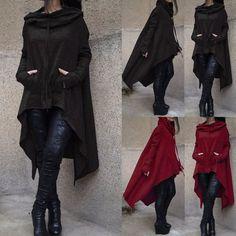 Womens Long Sleeve Hoodie Sweatshirt Pullover Tops Casual Blouse Jumper Coat US #Unbranded #Hoodie