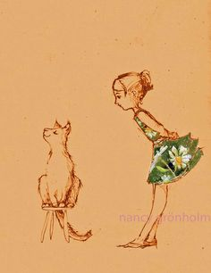 Who's the boss - Retro Style cat reproduction by Nancy Grönholm