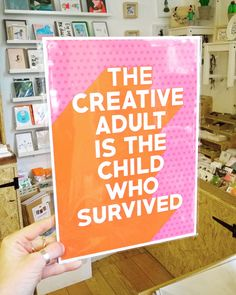 @fableandblack created this artwork especially for HN magazine and it's now available to by in store!  . . . #thecreativeadultisthechildwhosurvived #creativeadult #quote #motivationalquotes #typography #print #hnmagazine #handmadenottingham #stjamesindies #stjamesstreetnotts #smallbusiness #supportindependent #shopsmall #hiddennottm #shopindie #flashesofdelight #thehappynow #thatsdarling #giftshop