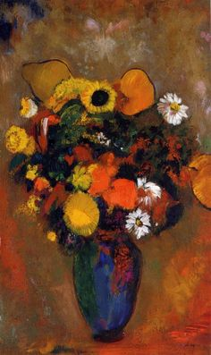 Odilon Redon - Flowers in a Green Vase 1912
