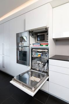 Kitchen Ideas, Design, Design and Pictures homify High-rise dishwasher: modern kitchen by Klocke Möbelwerkstätte GmbH The decoration of the house is actually an exhibit s. Home Decor Kitchen, Diy Kitchen, Home Kitchens, Kitchen Ideas, Kitchen Layout, Cuisines Design, Kitchen Lighting, Modern Kitchen Design, Home Furnishings