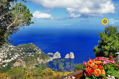 Welcome to the great panorama of Capri, a beautiful Island near Napoli, Italia. This is a little corner of heaven in the middle of the Mediterranean sea: Greetings, by http://www.agriturismo.com/ #travel   #viaggi   #napoli   #agriturismo   #seaside   #mediterraneo