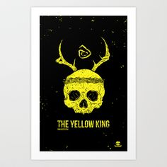The Yellow King Art Print by Diseños Fofo - $17.68