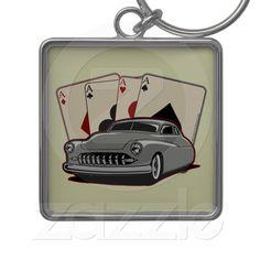 Motor City Lead Sled keychain  Classic Poker run Lead Sled Design.