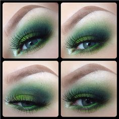 Gorgeous smokey green eyes by Cheeksmakeup using Sugarpill Midori and Acidberry eyeshadows.