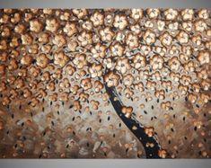 120 x 60 cm Grote abstracte acryl schilderijen op door acrylkreativ