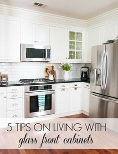 tips on living with glass cabinets