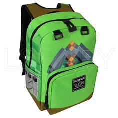 Green Backpacks, Cheap Backpacks, Boys Backpacks, School Backpacks, Minecraft Backpack, Men's Backpack, Creeper, Primary School, Unisex