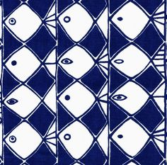 scandinavian fabric fish 50s vtg retro Heals Stig Lindberg era DIY cushion | eBay