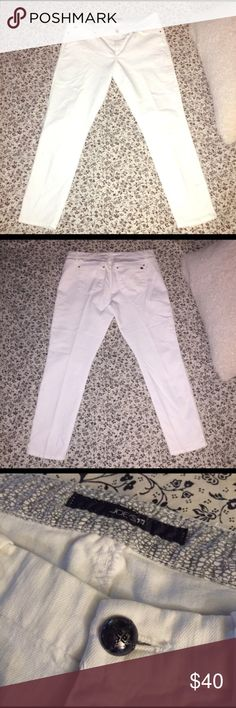 Joe's Jeans Cigarette White Jeans 32 Joes. Joes Jeans, White Jeans, Skinny Jeans, Lace, Womens Fashion, Closet, Style, Swag, Armoire
