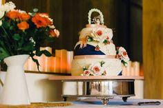 Dan and emilys wedding cake with sugar roses