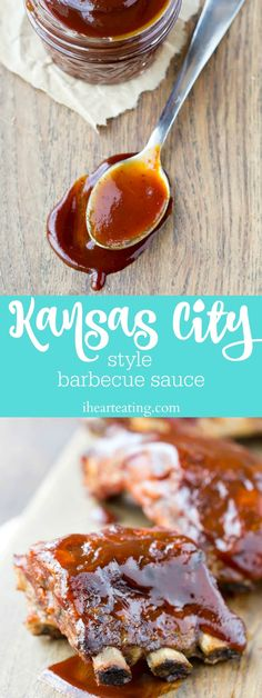 Homemade Kansas City Style Barbecue Sauce Recipe - great with chicken, ribs, or any other barbecue for dinner!
