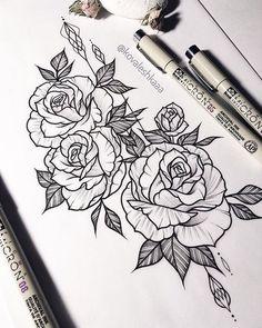 Als Melhores Tattoos de Pet - diy tattoo images - Kunst Diy Tattoo, Form Tattoo, Shape Tattoo, Tattoo Fonts, Tattoo Ideas, Flower Tattoo Drawings, Flower Tattoo Designs, Tattoo Sketches, Drawings Of Tattoos
