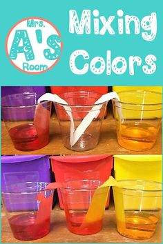 Science activities in preschool and kindergarten are so much fun! And these ideas for mixing colors are no exception! Preschool Color Activities, Kindergarten Math Activities, Preschool Activities, Fine Motor Skills Development, Summer Fun For Kids, Sensory Boxes, Kids Daycare, Learning Colors, Color Mixing