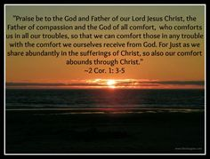 The God of all comfort...