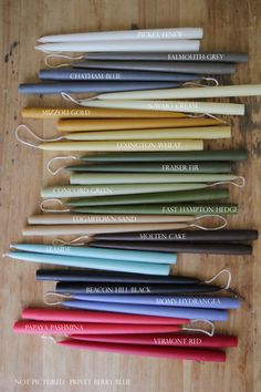 """Hand Dipped Taper Candles - 12"""" (Set of 2)"""