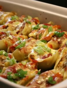 Stuffed Shells Mexican Style #recipe