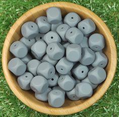 Dice Silicone Bead 10pk - Dim Grey - Silicone Beads Australia™