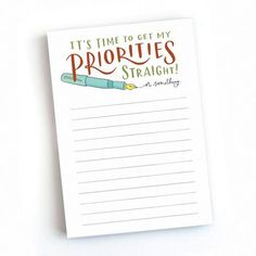 Priorities Notepad - for a note taker, a doodler or a multi-tasker, this notepad is the perfect desk accessory to keep you on task. #getbullish