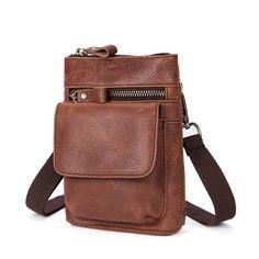2019 new style men messenger bag 1st layer cowhide single shoulder bag  retro men waist bag ab77499b5f00