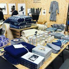 Got the winter blues? We're feeling this #indogo setup at the My o My Xmas Garage! #blueonblue #retail #visitfinland #myhelsinki #christmas