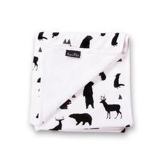 Woodland Silhouette Organic Baby Blanket - Aster & Oak